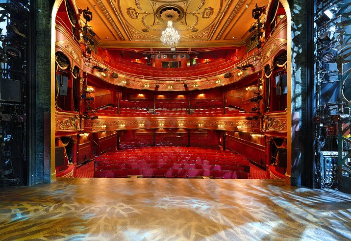 Actors view from the stage Theatre Royal Stratford East CopyrightPeterDazeley credit photographer Peter Dazeley